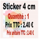 Lot sticker : 4 cm - Quantité : 1