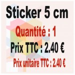 Lot sticker : 5 cm - Quantité : 1