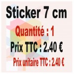 Lot sticker : 7 cm - Quantité : 1