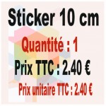 Lot sticker : 10 cm - Quantité : 1
