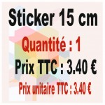 Lot sticker : 15 cm - Quantité : 1