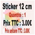 Lot sticker : 12 cm - Quantité : 1