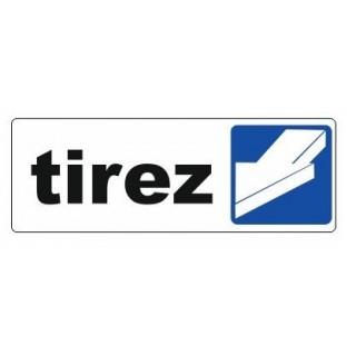 Sticker TIREZ pour porte