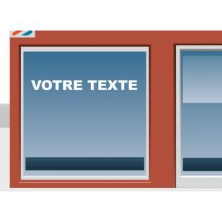 Sticker lettrage VOTRE TEXTE