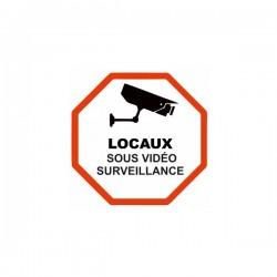 Sticker Locaux sous vidéo surveillance