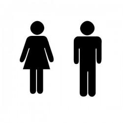Sticker HOMME et FEMME
