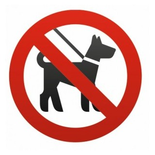 Sticker Interdit / interdiction aux Chiens