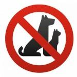 Sticker Interdit / interdiction aux animaux