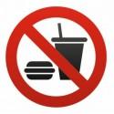 Sticker Interdit / interdiction de manger