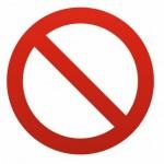 Sticker Interdit / interdiction aux caddies