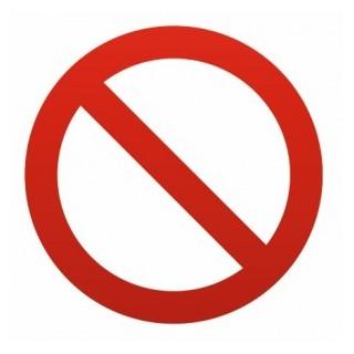 sticker coller sur votre vitrine interdiction. Black Bedroom Furniture Sets. Home Design Ideas