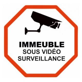 Sticker Immeuble sous vidéo surveillance