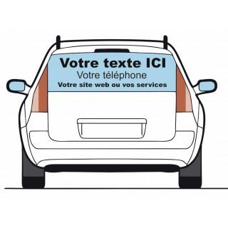 Sticker lettrage VOTRE TEXTE pour véhicule