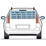 2 lignes : sticker lettrage VOTRE TEXTE pour véhicule
