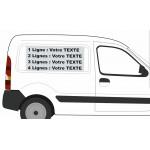 2 Lignes : Sticker VOTRE TEXTE pour véhicule professionnels