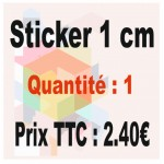 Lot sticker : 1 cm - Quantité : 1