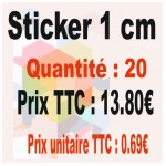 Lot sticker : 1 cm - Quantité : 20