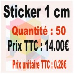 Lot sticker : 1 cm - Quantité : 50