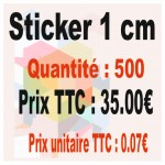Lot sticker : 1 cm - Quantité : 500