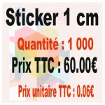 Lot sticker : 1 cm - Quantité : 1000