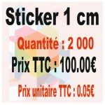 Lot sticker : 1 cm - Quantité : 2000