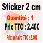 Lot sticker : 2 cm - Quantité : 1
