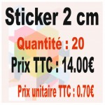 Lot sticker : 2 cm - Quantité : 20
