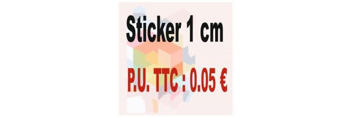 Sticker 1 cm : Quantité de 1 à 5 000