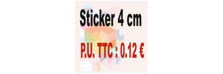 Sticker 4 cm : Quantité de 1 à 2 000