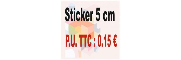 Sticker 5 cm : Quantité de 1 à 1 000