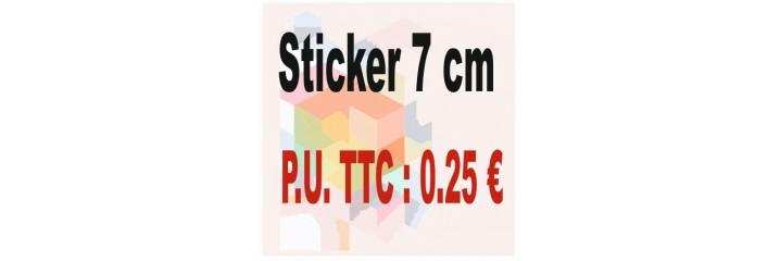 Sticker 7 cm : Quantité de 1 à 500