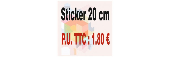 Sticker 20 cm : Quantité de 1 à 100